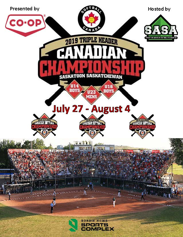 See the official program for the Softball Canada triple header of Fastpitch Championships in Saskatoon