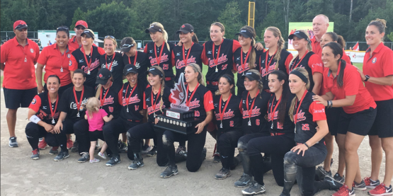 Le Canada remporte la médaille d'OR au Championnat international de softball Coupe du Canada!